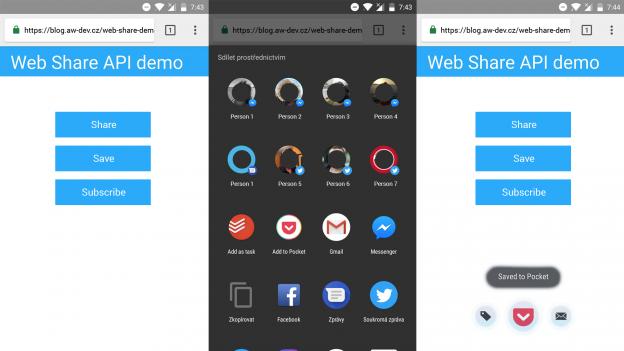 Demo Web Share API